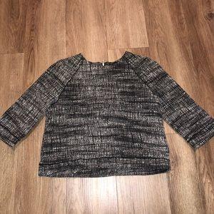 Zara tweed top 3/4 sleeves
